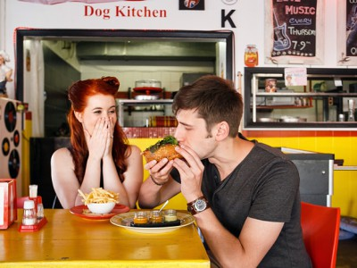 Diner inspired Engagement shoot