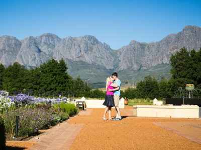 Vergelegen Wine Estate Engagement shoot - Ed & Heather